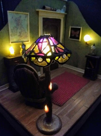 The Study, handmade lamp