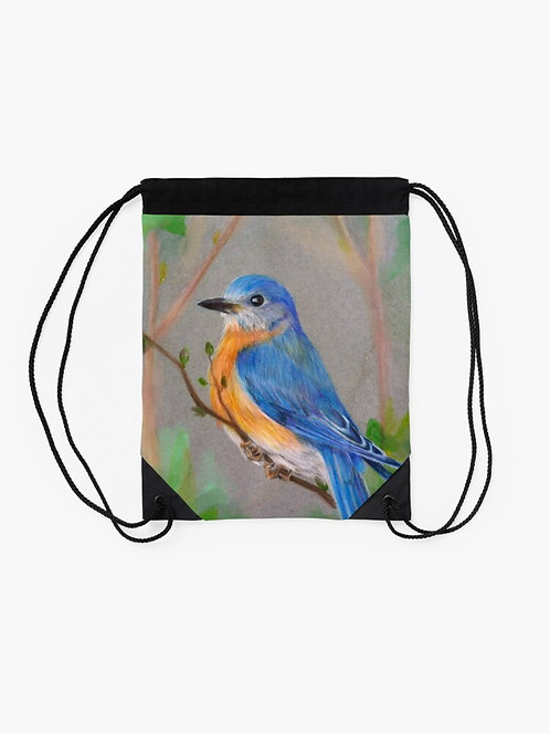 Bluebird Drawstring Bag