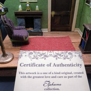 All work comes with certificate of authenticity