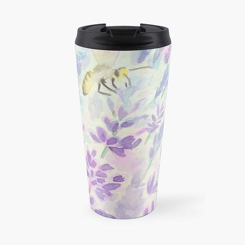 Bees and Lavender Travel Mug
