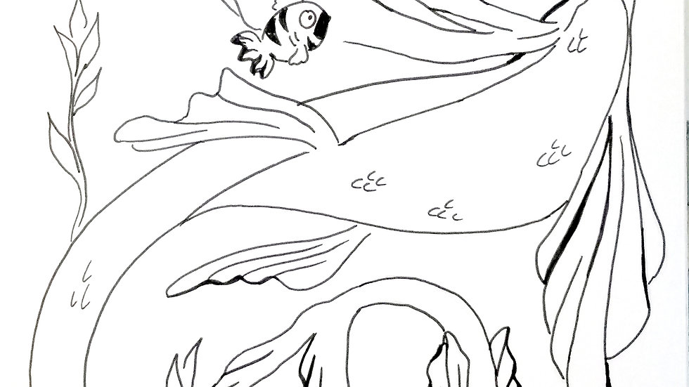 Nessie Coloring Page