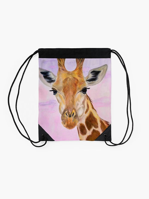 Giraffe Drawstring Bag