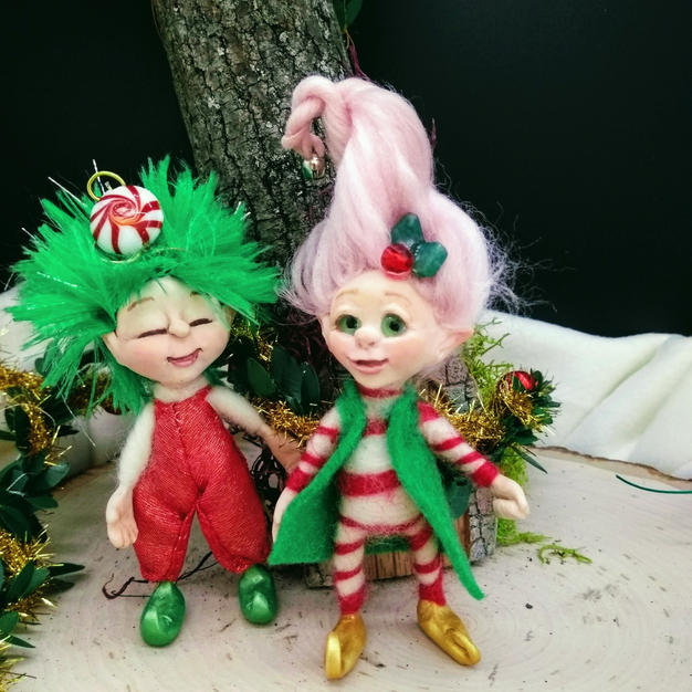 Tinsel and Twinkle the Holiday Elves