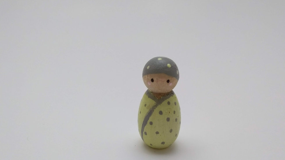 Baby Peg Doll in Yellow