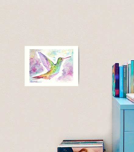 "12x16"" Premium Art Print Rufous-Tailed Hummingbird"