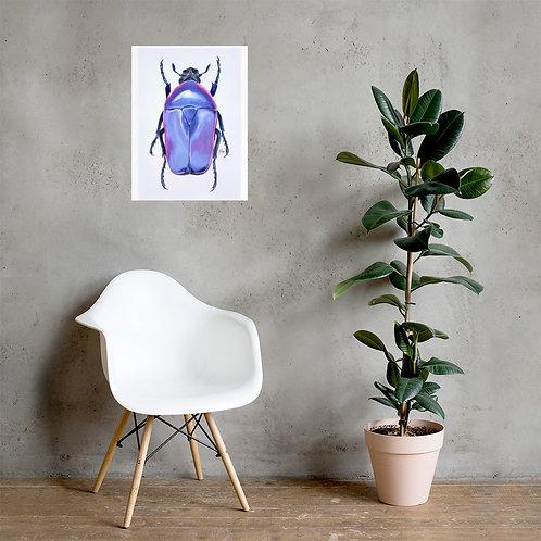 Purple Jewel Beetle Art Print