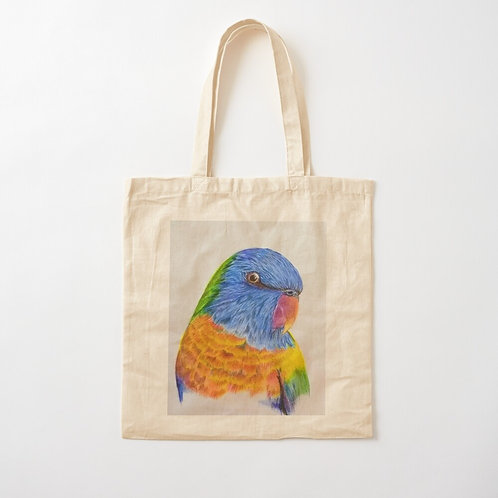 Rainbow Lorikeet Cotton Tote