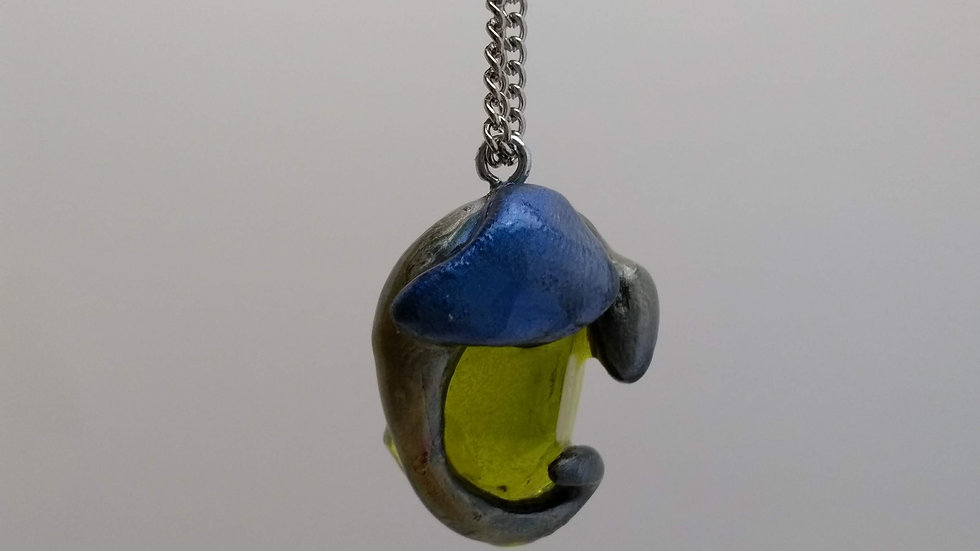 Green and Blue Dragon Pendant
