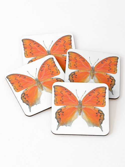 Set of 4 Florida Leafwing Butterfly Coasters
