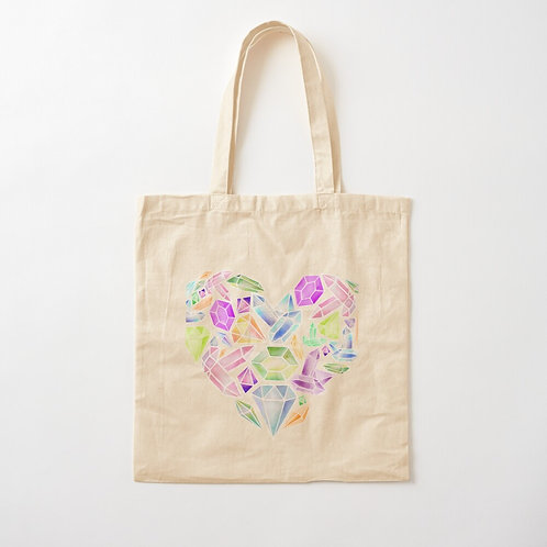 Heart of Gemstone Cotton Tote