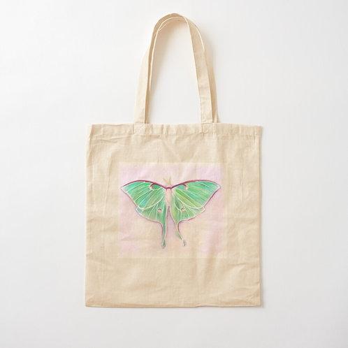 Luna Moth Cotton Tote
