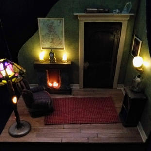 The Study with working lights