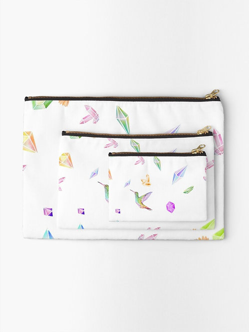 Feathered Jewels Zipper Pouch