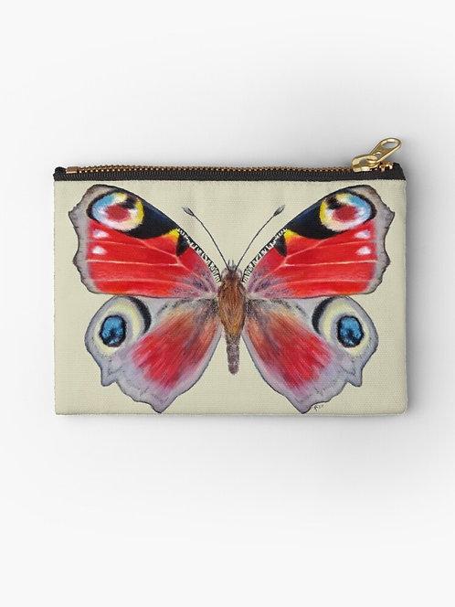 Peacock Butterfly Zipper Pouch