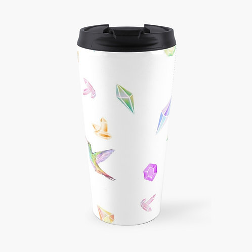 Feathered Jewels Travel Mug