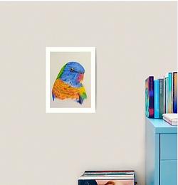 "12x16"" Premium Art Print Rainbow Lorikeet"