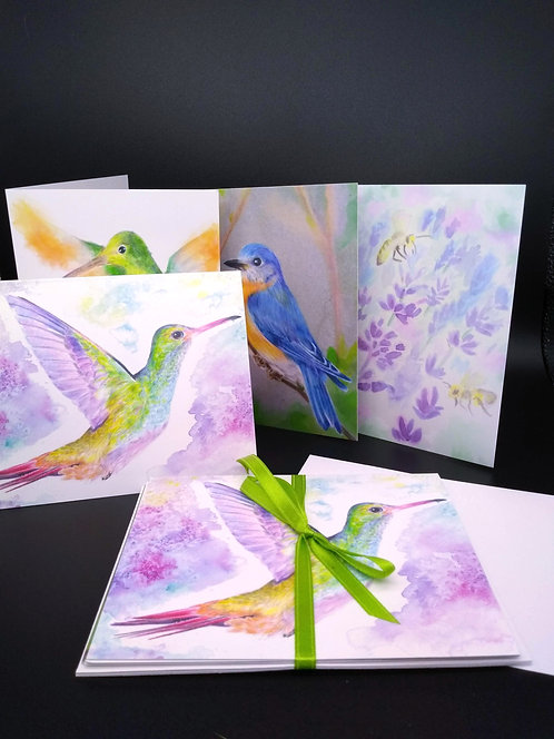 Birds and Bees Greeting Card Set