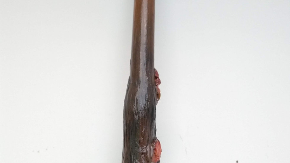 Sculpted and Carved Oak Tree Inspired Wand