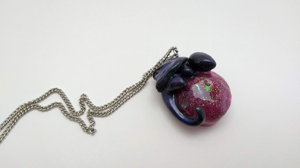 Black and purple Dragon Pendant
