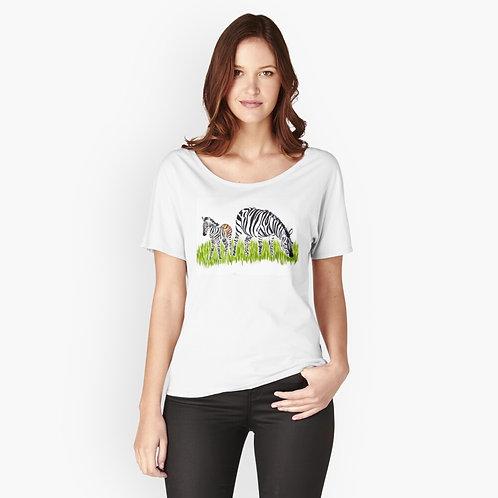 Zebra Relaxed-Fit T-Shirt