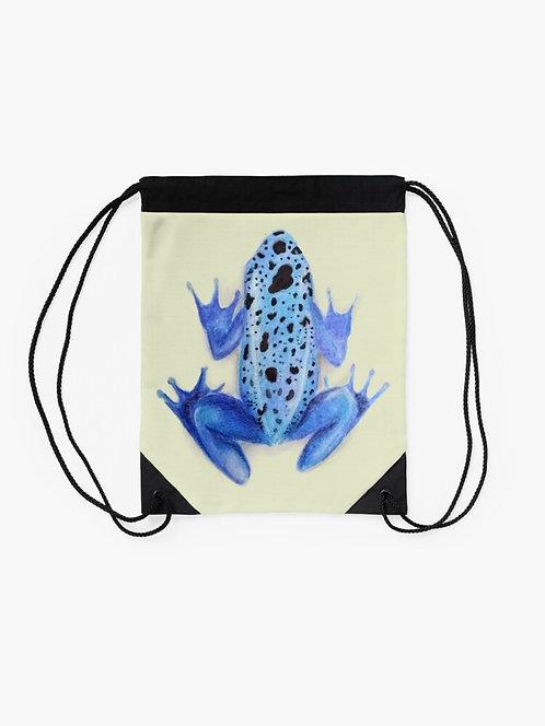 Poison Dart Frog Drawstring Bag