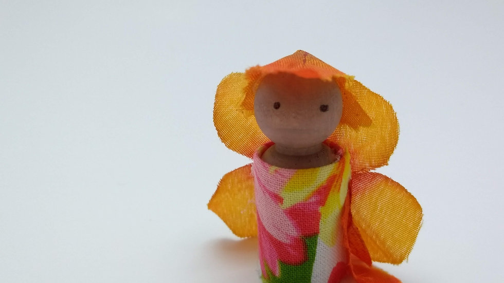 Tropical Fairy Peg Doll