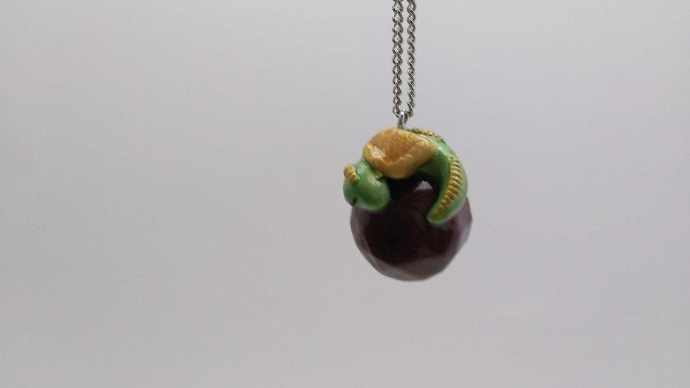 Sleepy Green Dragon Pendant