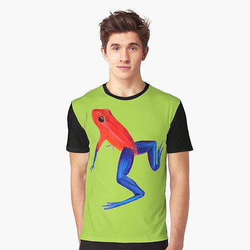 Strawberry Poison Dart Frog Graphic T-Shirt