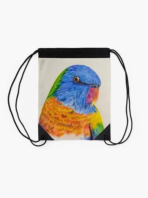 Rainbow Lorikeet Drawstring Bag