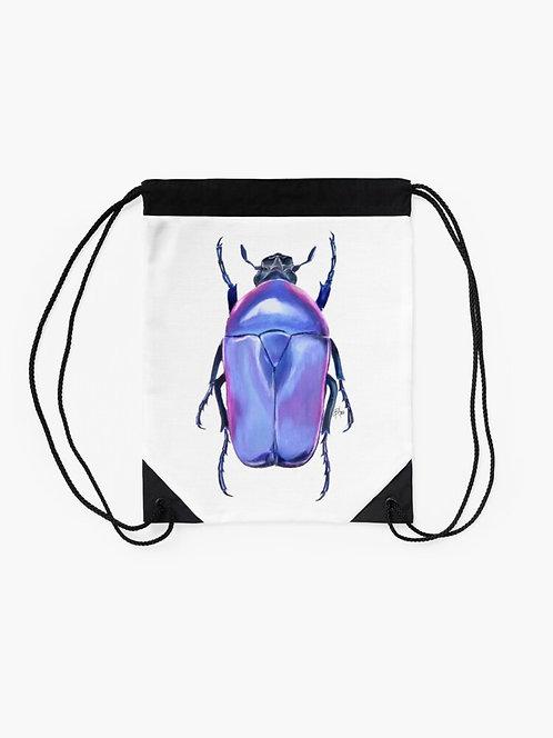 Jewel Beetle Drawstring Bag