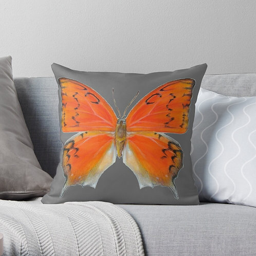 Florida Leafwing Butterfly Throw Pillow