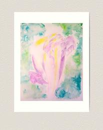 "12x16"" Premium Art Print Indian Elephants"