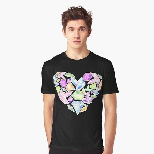 Heart of Gemstone Graphic T-Shirt