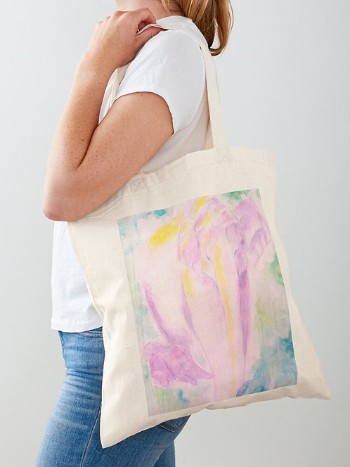 Elephants Cotton Tote