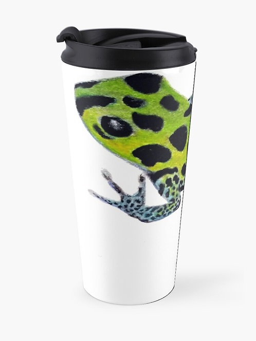 Green Poison Dart Frog Travel Mug