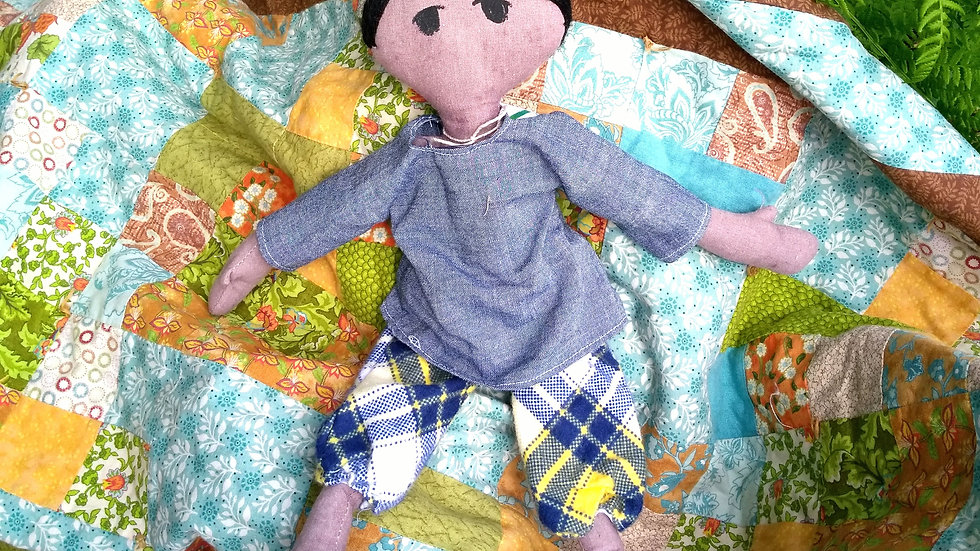 "12"" fabric doll"