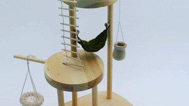 Handmade Waldorf Style Wood Tree House