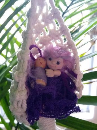 Amethyst elf in hammock