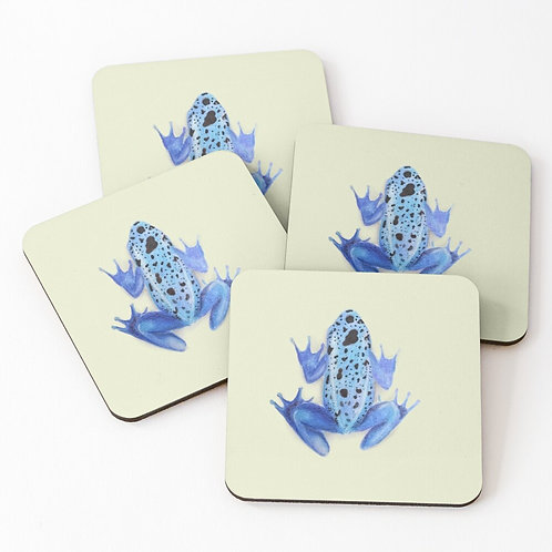 Set of 4 Poison Dart Frog Coasters