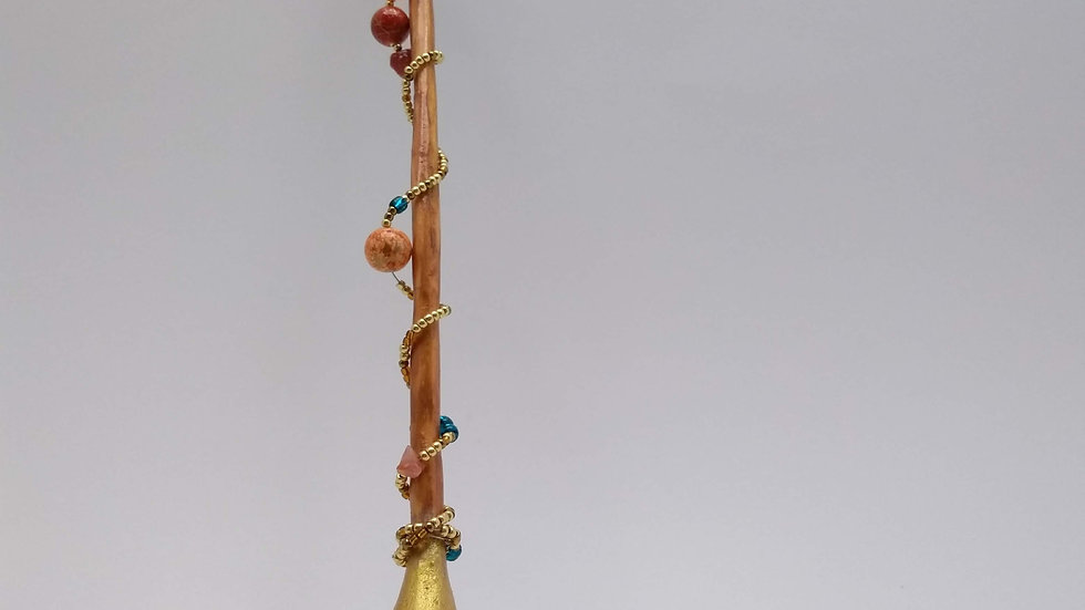 Carved and Beaded Wand