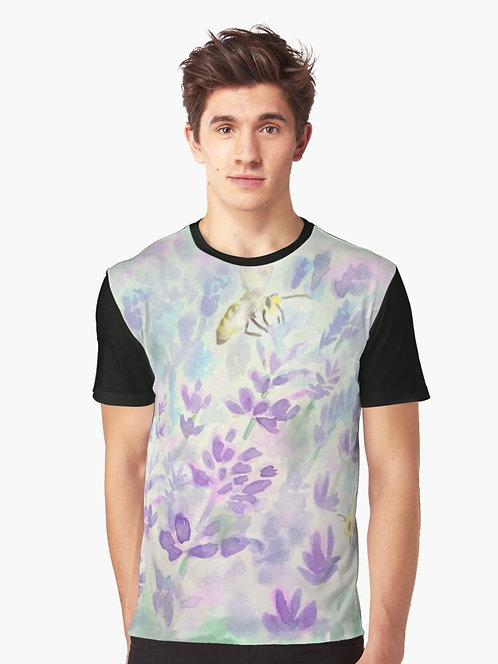 Bees and Lavender Graphic T-Shirt