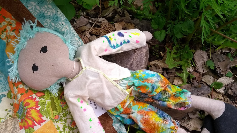 "12"" fabric garden doll"