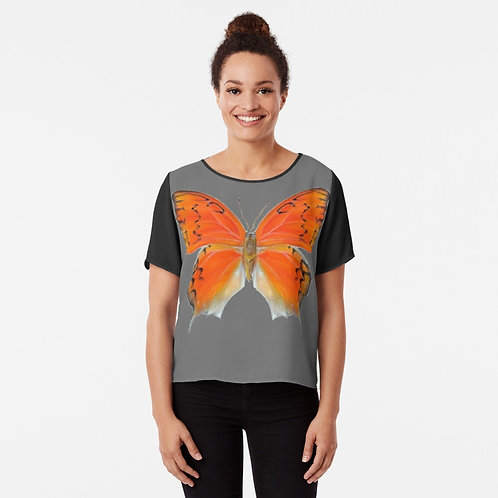 Florida Leafwing Butterfly Chiffon Top
