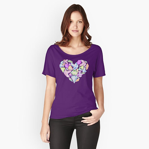Heart of Gemstone Relaxed-Fit T-Shirt
