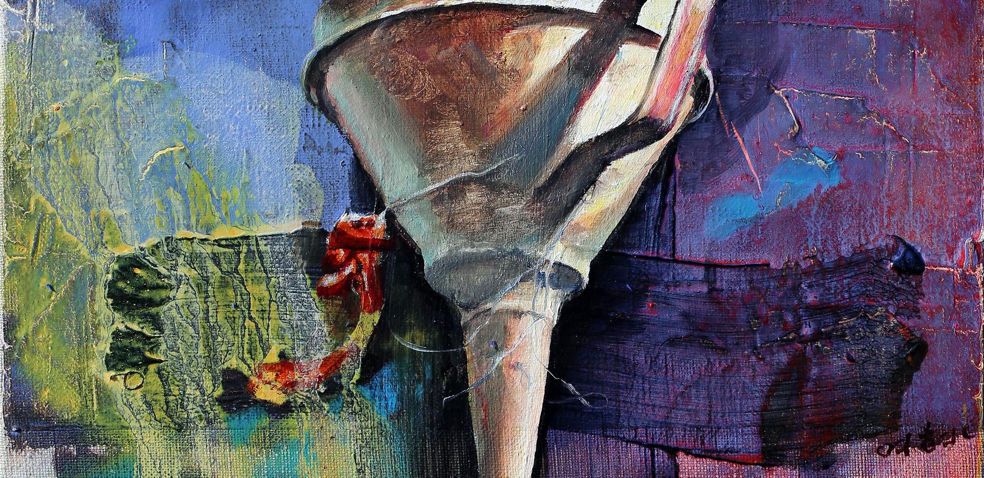 깔때기 Funnel 32x41cm oil on canvas 2019-2
