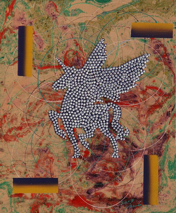 COSMOS-Âù¶õÇÑÁ¸Àç,61x50cm, Acrylic on ca
