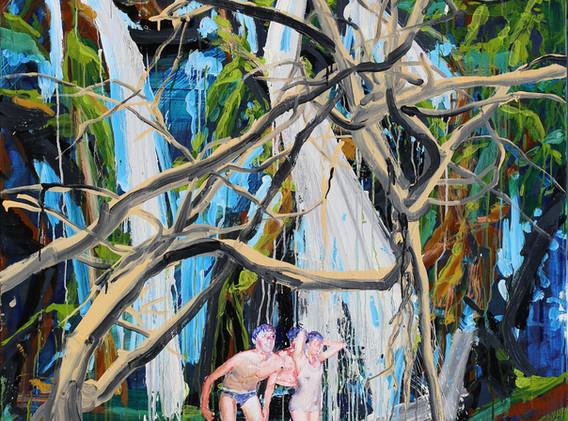 The pond of Veiled Ophelia 162x130cm oil on canvas 2018-9