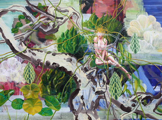 The pond of Ophelia 65x100cm oil on canvas 2018-2
