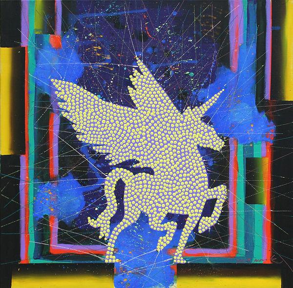 푸르른이성,61x61cm, Acrylic on cavas, 2019.jp