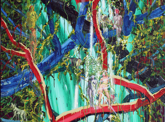 Veiled Ophelia in The Forest of Ulysses 181x227cm oil on canvas 2019-5